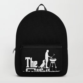 Mens The Grillfather Funny BBQ Grilling graphic for Grill Master Backpack