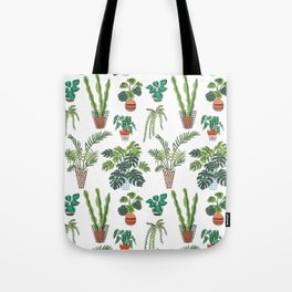 flowerpots pattern Tote Bag