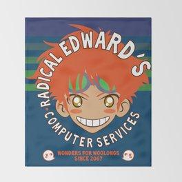 Classic Anime Otaku Computer Tech Geek Radical Edward Wonders for Woolongs Throw Blanket