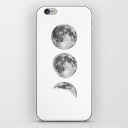 Full Moon cycle black-white photography print new lunar eclipse poster bedroom home wall decor iPhone Skin