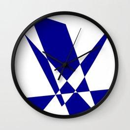 Cobalt Blue Geometric Construct Wall Clock