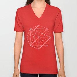 Octagon Diagonals Unisex V-Neck