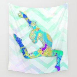 Gymnast Jump Wall Tapestry