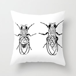Adult Drosophila Throw Pillow