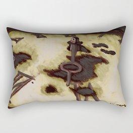 Crushing Clock Rectangular Pillow