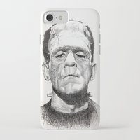 frankenstein iPhone & iPod Cases featuring Frankenstein by calibos