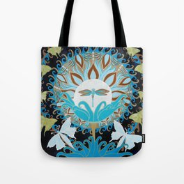 Journey of the Luna Moth Art Nouveau Mandala by Jeanne Fry Tote Bag