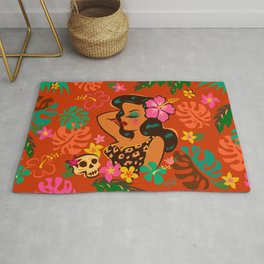 Tropical Tiki Girl Rug