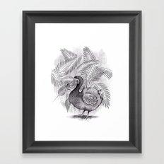 Last one of the Dodos - jungle print Framed Art Print