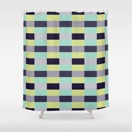 soft color shades minimalist tartan geometric pattern Shower Curtain