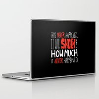 mad men Laptop & iPad Skins featuring Mad Men by Chris Piascik