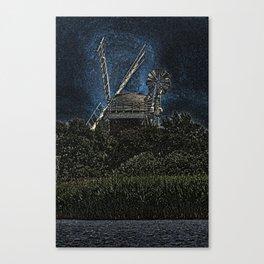 Horsey windmill Canvas Print