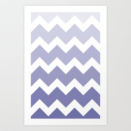 Chevron - Multi Blue Art Print