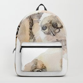 Watercolor Dog Painting Backpack