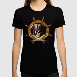 Jolly Roger Pirate Wheel T-shirt