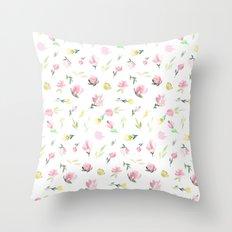 Florcitas rosas Throw Pillow