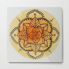 Mandalas - Series 1 - Citrus Metal Print