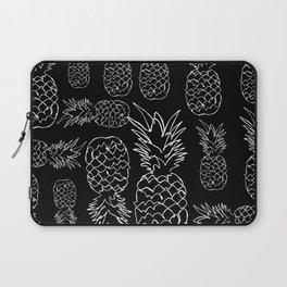 single line pineapple (white) Laptop Sleeve