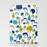 faces Stationery Cards featuring Faces by Sahily Tallet Yip