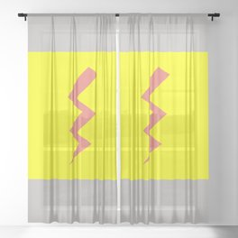 Pink Lightning Sheer Curtain