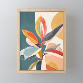 Colorful Branching Out 01 Framed Mini Art Print