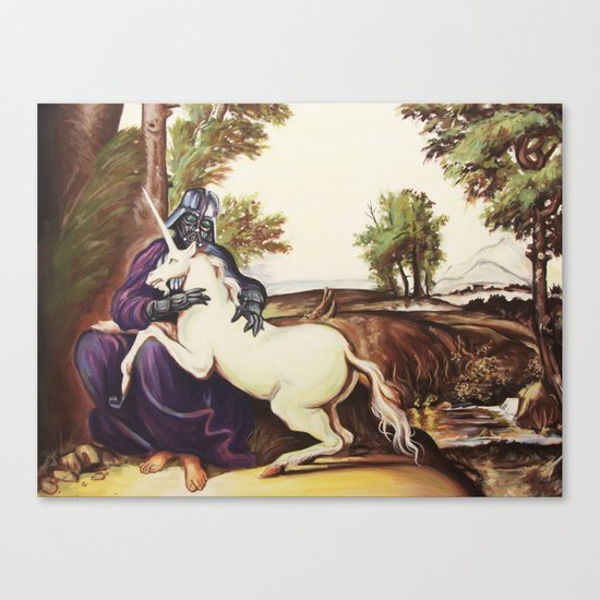 Vader and Unicorn Canvas Print