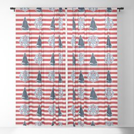 Nautical design Sheer Curtain
