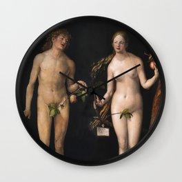 Albrecht Durer - Adam And Eve Wall Clock