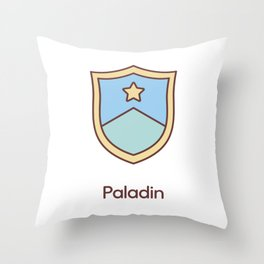 Cute Dungeons and Dragons Paladin class Throw Pillow