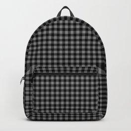 Mini Black and Grey Cowboy Buffalo Check Backpack