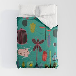 bugs and insects green Comforters
