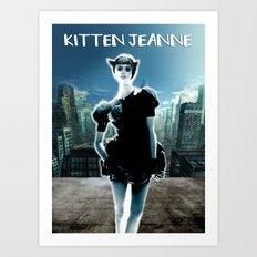 Kitten Jeanne Art Print
