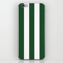 Cal Poly Pomona green - solid color - white vertical lines pattern iPhone Skin