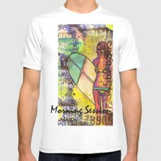 Morning Session White Mens Fitted Tee MEDIUM
