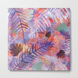 Colourful Palm Electric Garden  #tropical #palm #society6 Metal Print