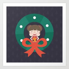 Day 07/25 Advent - Merry Little Christmas Art Print