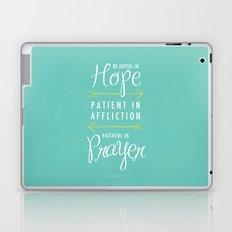Romans 12:12 Laptop & iPad Skin
