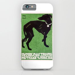 1912 Ludwig Hohlwein Dog Show Poster iPhone Case