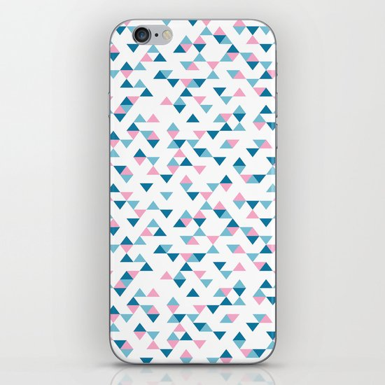 Triangles Blue and Pink Repeat iPhone & iPod Skin