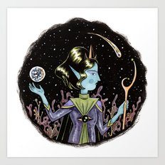 Space Queen Art Print