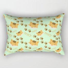 Cute Foxy on green Rectangular Pillow