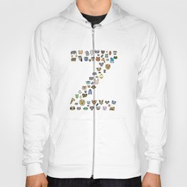 letter Z - zoological animals Hoody