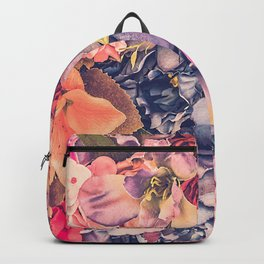 Beautiful background with different flowers Backpack