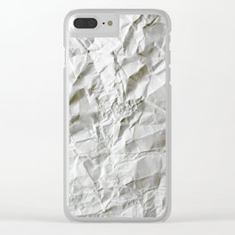 Crinkled Blues Clear iPhone Case