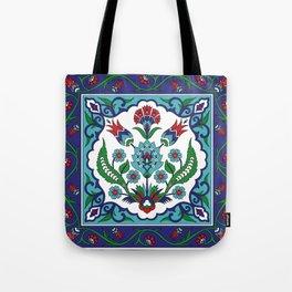 Turkish Tile Pattern – Vintage iznik ceramic with tulips Tote Bag