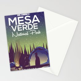 Mesa Verde National Park Camping Stationery Cards