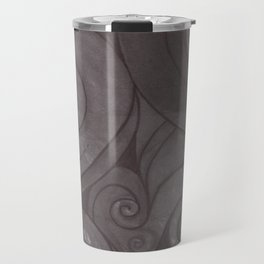 Black on black Travel Mug