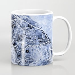 Edinburgh City Street Map Coffee Mug