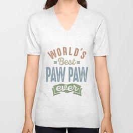 World's Best Paw Paw Unisex V-Neck