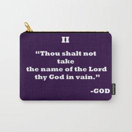Ten Commandments.......II Carry-All Pouch